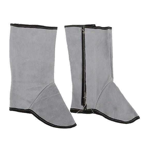 sharplace mangas Soldador aislamiento Piernas protección Zapatos resistente calor Piel Artificial: Amazon.es: Bricolaje y herramientas