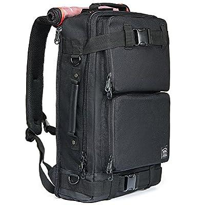 on sale KAUKKO Vintage Canvas Laptop Backpack Rucksack Outdoor Hiking  Camping Travel Daypack 51612e909eb24