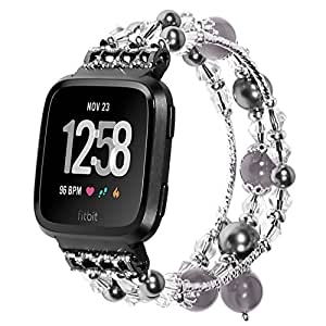 Amazon.com: For Fitbit Versa Bands, Replacment Pearl