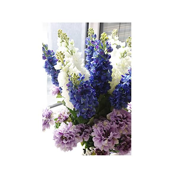 LI HUA CAT Artificial Silk Spring Bush Grape Hyacinth Bundle Blue 31.5 Inches Pack of 2 (Light Purple, 31.5 inch)