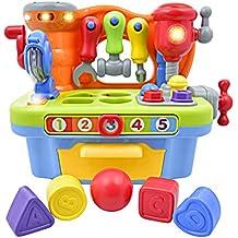 [Patrocinado] Deluxe Toy Taller Playset para Niños interactivo con sonidos y luces | Gran Aprendizaje Educativo Juguete para la enseñanza colores, formas, números, y el alfabeto | Gran Regalo Para bebé Boys & Girls