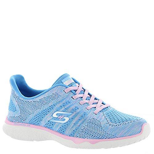 Skechers Studio Burst Edgy Womens Slip On Sneakers Navy/Light Blue 6.5 HJ7AX