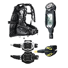 This Scuba Package features: Oceanic Excursion BC/BCD: You glide through the water like a manta ray, air bladder tucked neatly behind you. Up front, there's nothing but contoured harness straps and a couple of integrated weight pockets. You'r...
