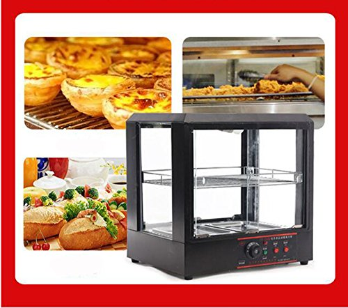 Commercial Countertop 2 Tier Food Pizza Warmer Display Cabinet Acrylic Case (Food Display Cabinet)