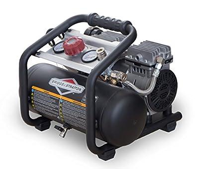Briggs & Stratton 074026-00 Air Compressor with Quiet Power Technology, 1.8 gallon, Black by Briggs & Stratton