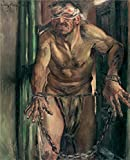 The Polyster Canvas Of Oil Painting 'Lovis Corinth Der Geblendete Simson ' ,size: 30 X 37 Inch / 76 X 94 Cm ,this Amazing Art Decorative Prints On Canvas Is Fit For Powder Room Decor And Home Gallery Art And Gifts