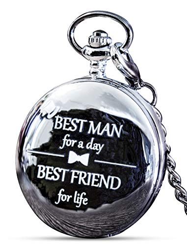 (Best Man Gift for Wedding or Proposal - Engraved Best Man Pocket Watch - Luxury Wedding)