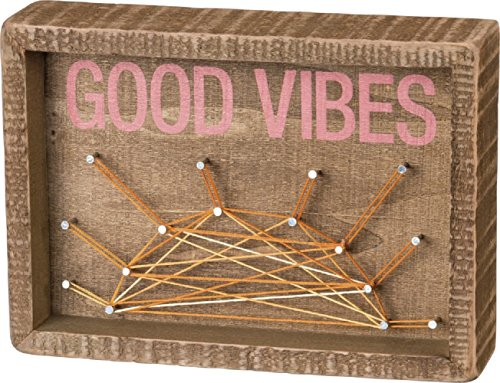 Primitives By Kathy Inset String Art Good Vibes Home Decor by Primitives by Kathy