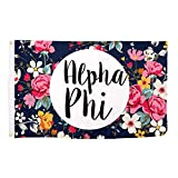 Alpha Phi Floral Pattern Sorority Flag Greek Use as a Banner Large 3 x 5 Feet Sign Decor A Phi Review