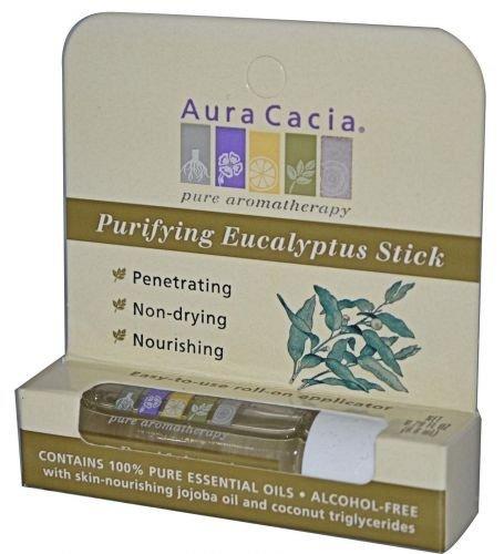 AURA CACIA Aromatherapy Stick Purifying Eucalyptus 0.29 OZ by Aura Cacia (Aromatherapy Stick Purifying Eucalyptus)