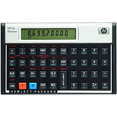 HP F2231AA 12c Platinum Financial Calculator