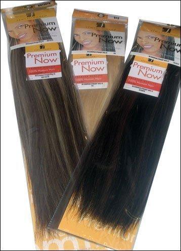 "Sensationnel Premium Now 100% Human Hair New Yaky Platinum 16""-#4(Medium Brown)"