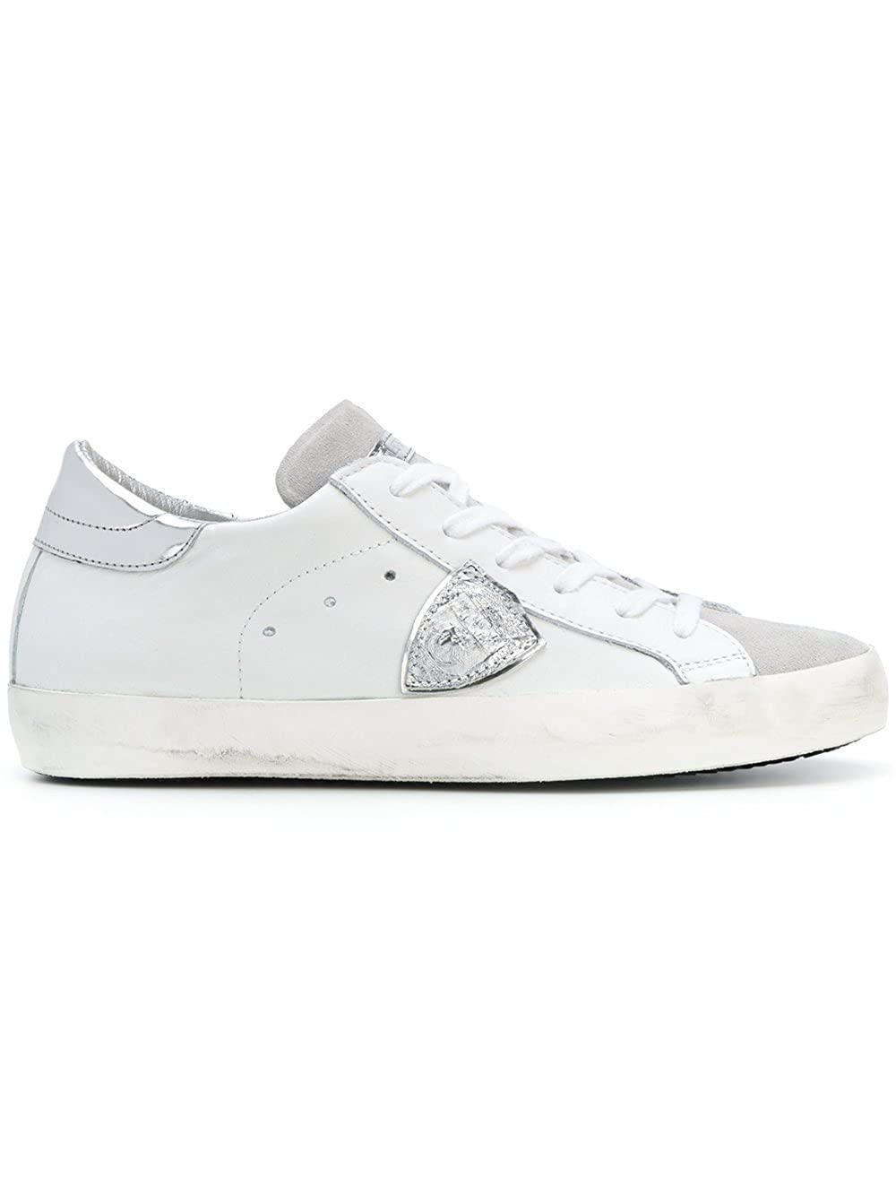 Philippe Model Mujer CLLD1005 Blanco Cuero Zapatillas 35 IT - Tamao de la Marca 35