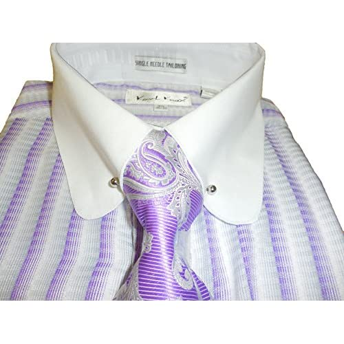high-quality Karl Knox SX4354 Mens Purple White Gray Striped
