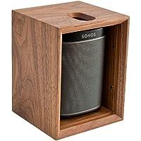 Leon ToneCase Hardwood Cabinet for SONOS PLAY:1 (Black Walnut)