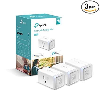 Kasa Smart WiFi Plug Mini by TP-Link – Smart Plug, No Hub Required, Works  with Alexa and Google (HS105P3)