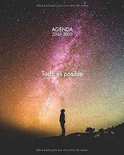 Agenda 2018/2019 Todo es posible: Agenda con frases motivacionales, Diseño estrellado,