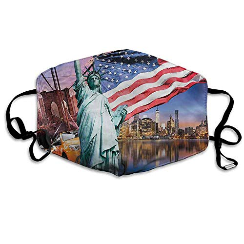 - United States Dust Mouth Mask Statue of Liberty for Men and Women W4