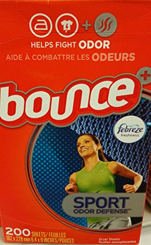 Bounce Sport Odor Defense Dryer Sheets (1-PACK) (200-DRYER SHEETS) by Bounce