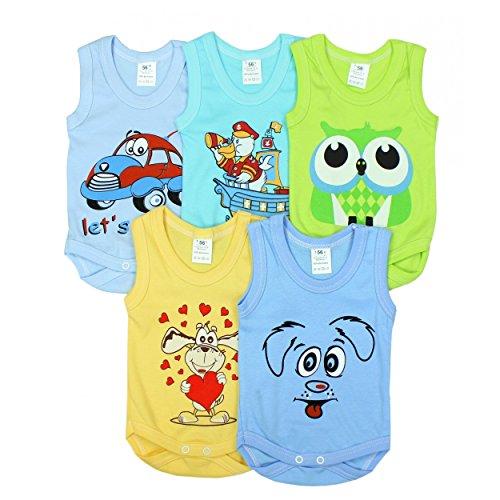Baby Achselbody mit Aufdruck 100% Baumwolle Body Mädchen Babybody Jungen, Farbe: Junge, Größe: 86