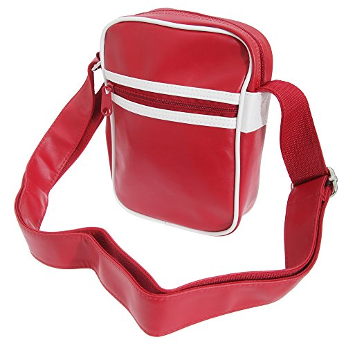 White Retro Bag Classic Bagbase Cross Body Original Shoulder Strap Red 7wgB5xzfq