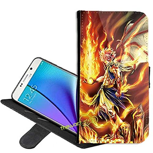 Samsung Galaxy S7 Case, Fairy Tail Natsu PU - Fairy Tail Phone Case Android