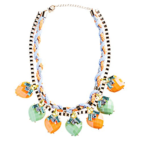 Modern Fashion Crystal Rhinestone Vibrant Heart Shape Necklace N75 Multi by Accessoriesforever (Image #1)