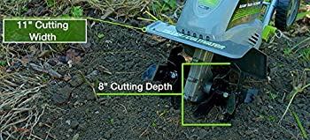 Earthwise Tc70001 11-inch 8.5-amp Corded Electric Tillercultivator 5