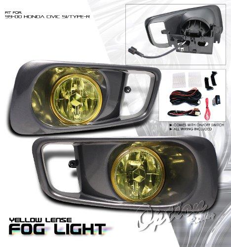Yellow OEM SPEC. Fog Light - Honda Civic Type-R 1999-2000 (With Wiring Kit)