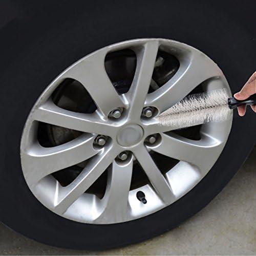 Wewoo Portátil Loop Estilo Auto Coche vehículo Moto Rueda Neumático Rim Hub Exfoliante de Cepillo Lavado Herramienta Limpieza: Amazon.es: Coche y moto