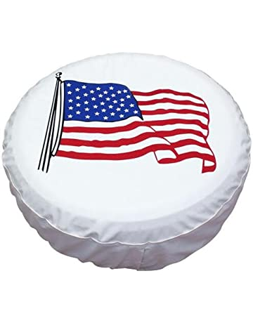 fa3e9612559 Spare Tire Cover 17 inch American Flag White Waterproof Universal Wheel  Tire Covers for RV Jeep