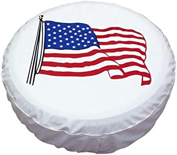 Sofu Universal White Spare Tire Cover 14 for Tire Diameter 23-27 Waterproof Dust-Proof PVC Leather Wheel Covers for RV Jeep Liberty Wrangler SUV Camper Travel Trailer Accessories