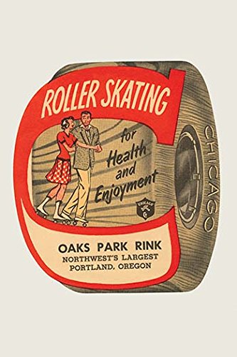 Buyenlarge Roller Skating for Health and Enjoyment - Gallery Wrapped 44''X66'' canvas Print., 44'' X 66''''