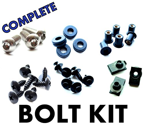 Yamaha YZF R1 02 03 Motorcycle Fairing Bolt Kit, Complete Screws and Fasteners kit R-1 2002 2003