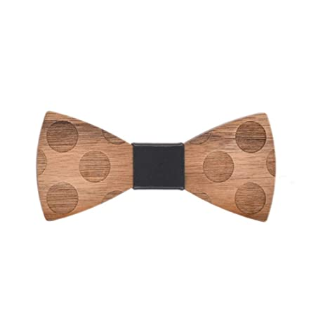 Corbata de lazo de madera para hombre Pajarita de madera Pajarita ...