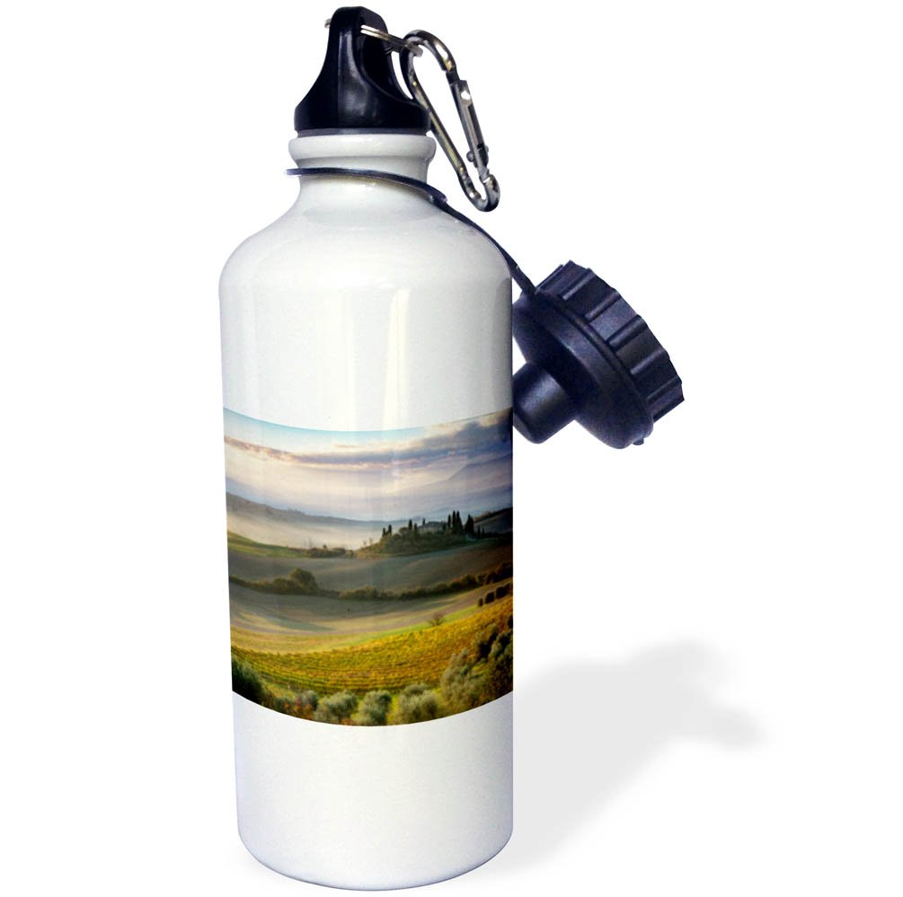 3dRose Danita Delimont - Italy - Sunrise over the countryside of Val dOrcia, Tuscany, Italy - 21 oz Sports Water Bottle (wb_277547_1) by 3dRose