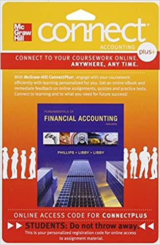 Connect 1 semester access card for fundamentals of financial connect 1 semester access card for fundamentals of financial accounting 4th edition fandeluxe Gallery