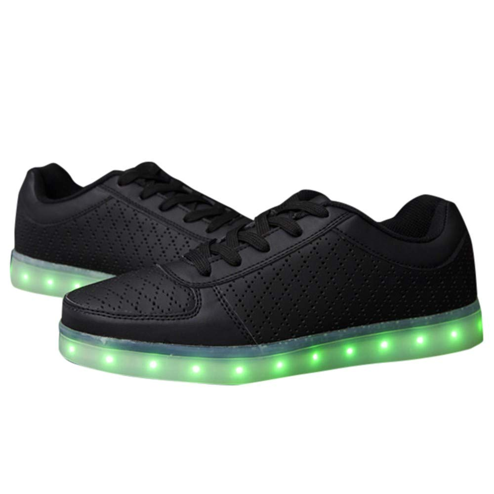 Couple Casual Shoes USB Charging Sports Radiant Shoes Colorful LED Lights Shoes Pandaie-Mens Shoes