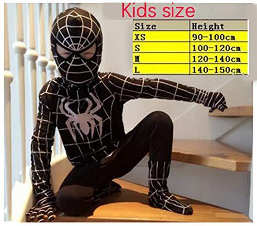 Price comparison product image Amazing Spandex Black Spiderman Costume Clothes Suit Boy Kids Children Adult Sp