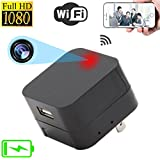 Facamword Wi-Fi Hidden Camera USB Charger Remotely View Live Video by iPhone Android Phone App