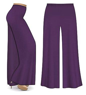 e3a2ee47c87 Purple Poly Cotton Jersey Knit Wide Leg Plus Size Supersize Palazzo Pants S