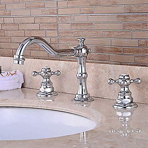 ZXY-NAN システムバス モダンなバスルームのシンクの蛇口 - プレフラッシュ/滝/ワイドツーハンドル三穴風呂の蛇口美しく実用 シャワー 降雨 取付簡単 シャワーヘッド ホース セット