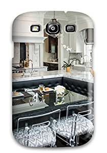 Galaxy S3 GPLleLs397ikJvc Breakfast Nook In Traditional Kitchen With Tufted Banquette Seating Tpu Silicone Gel Case Cover. Fits Galaxy S3