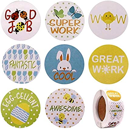 Amazon Com 500 Pcs Reward Stickers For Teachers 1 Inch 8 Cute Cartoon Designs Stickers Roll For Kids Teacher Supplies For Classroom Potty Training Stickers Toddlers Motivational Stickers Health Personal Care