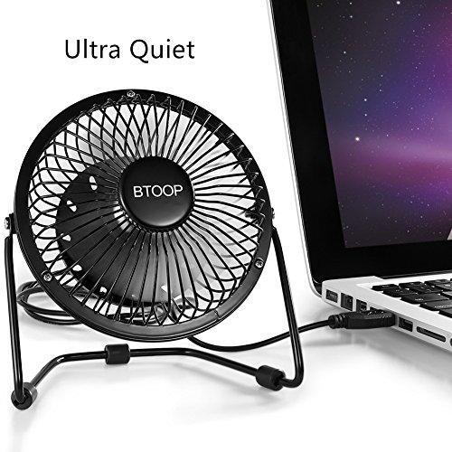 Btoop 4 Inch Mini Usb Desk Fan Small Black Buy