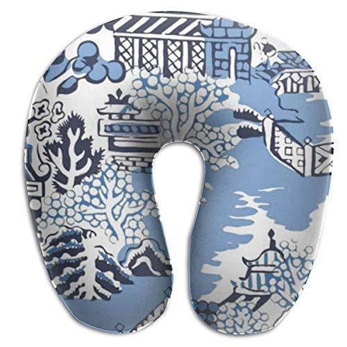 China Polyester Rug - Jhgsjnsf Blue & White China Blue Willow Bathmat Rug Travel Pillow Memory Car Airplane Office Home Cafà Bus Printed U-Shape Neck Pillow