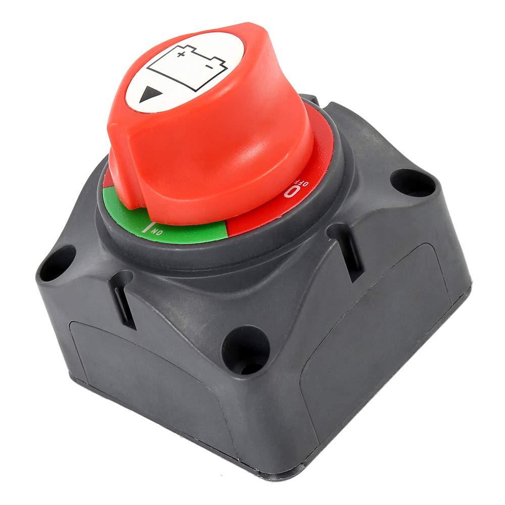 Interruptor de bater/ía Master Isolator interruptor de desconexi/ón de encendido//apagado para RV bater/ía barco marino coche veh/ículo impermeable