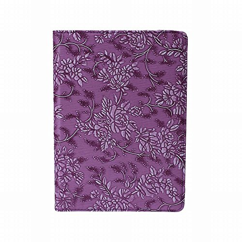 OkSoBuy® iPad Air 2 Case,Leather United States flags Case Flip PU Leather kickStand Groove 360 degree rotating For iPad Air 2 (iPad 6) Case(Purple Art flower pattern)