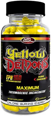 YELLOW DEMONS Thermogenic Fat Burner Anabolic Science Labs, Best 100% Complete All In One Appetite Suppressant, Clean Energy, Weight Loss, Fat Cutter