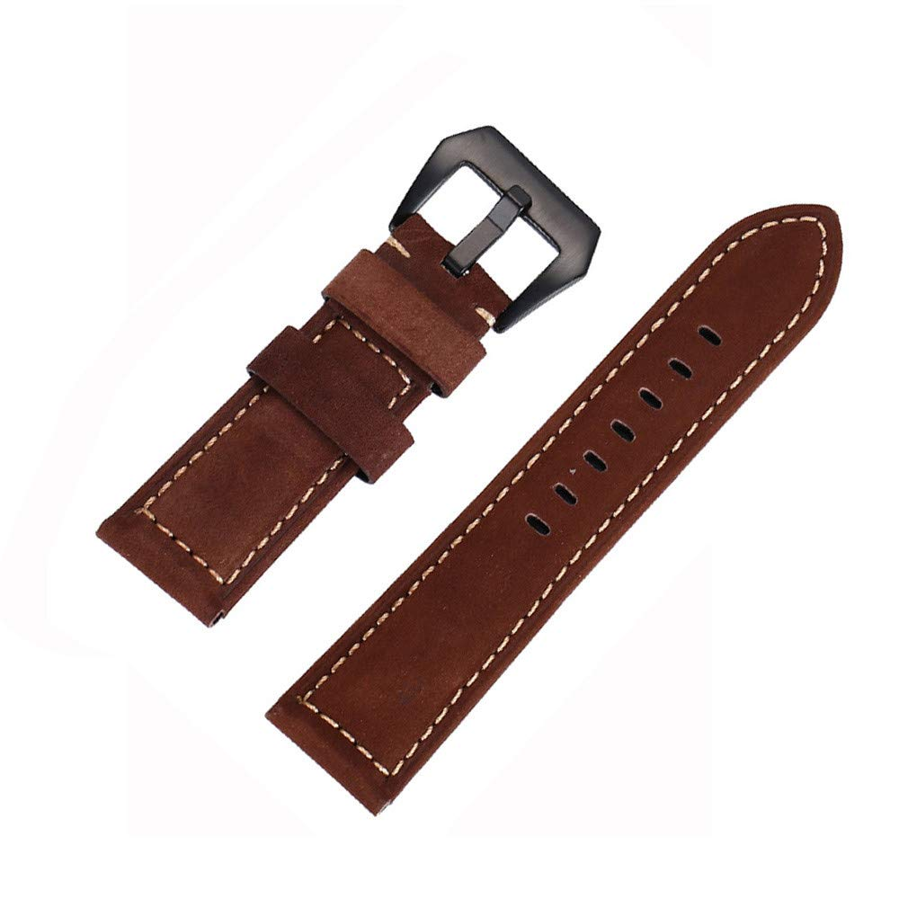JDgoods Watch Band Replacement Leather Padded Buckle Wrist Band Strap 26 MM Brings New Life to Any Watch (Brown)